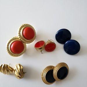 VINTAGE  ☆ Earring ~ Set of 5 ~ 1980's .